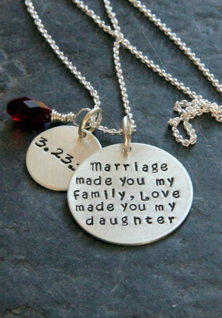 Gift For Daughter In Law Marriage Made You My Family From Stepmother Stepdaughter Mother Groom S Mom Wedding