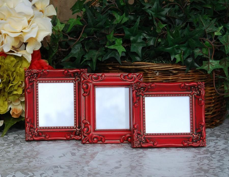 ornate wedding picture frames set of 3 vintage country cottage