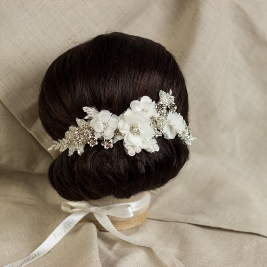 wedding lace hair comb bridal headpiece bridal hair comb floral