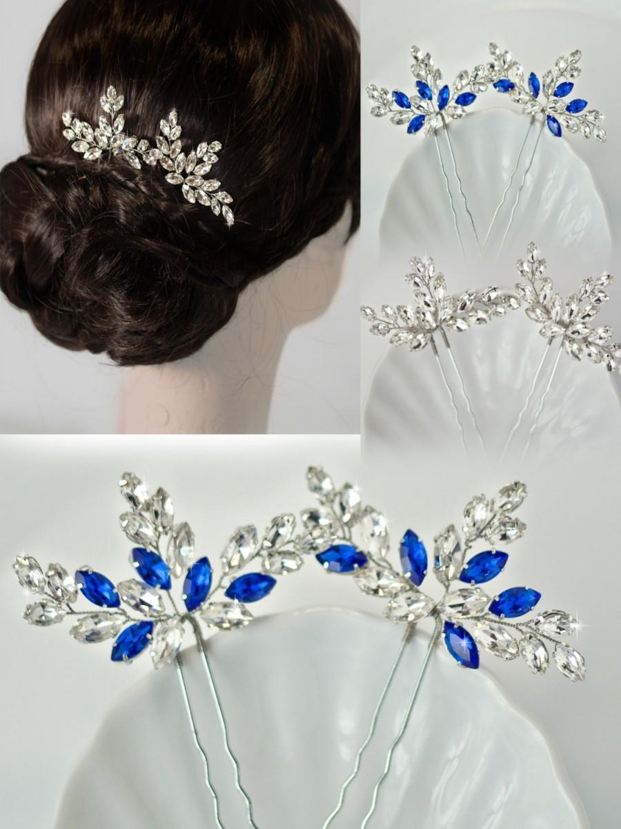 rhinestone hair pins, crystal hair pins, bridal hair pins, bridal