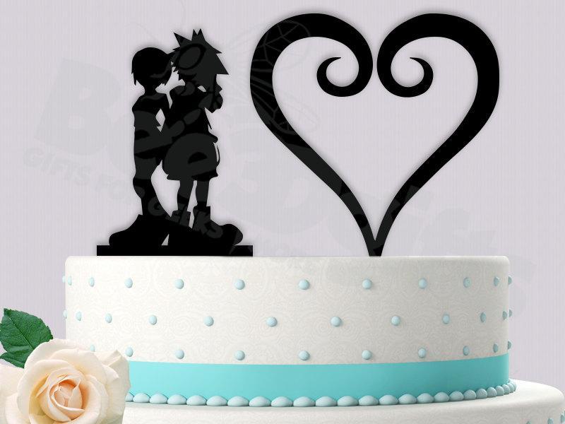 Sora And Kairi Kingdom Hearts Cake Topper