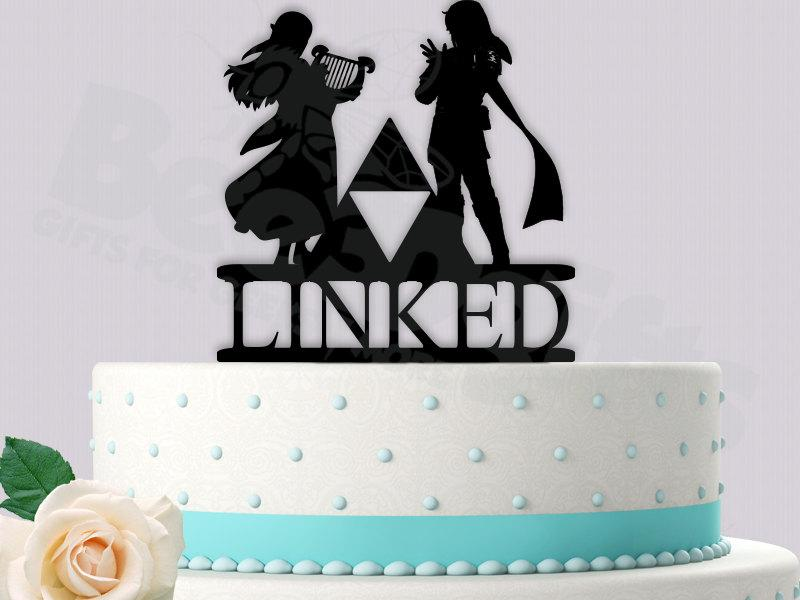 legend of zelda wedding cake topper legend of inspired quot linked quot wedding cake topper 16788