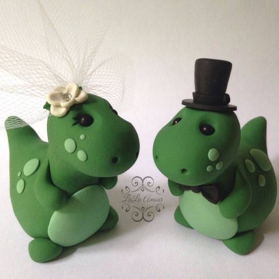 dinosaur wedding cake toppers decor dinosaur wedding cake topper handmade 2450151 13532