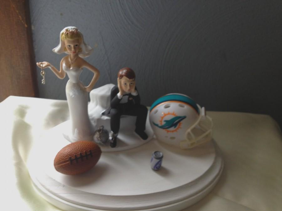 funny wedding cake toppers soccer miami dolphins nfl wedding cake topper bridal 14606
