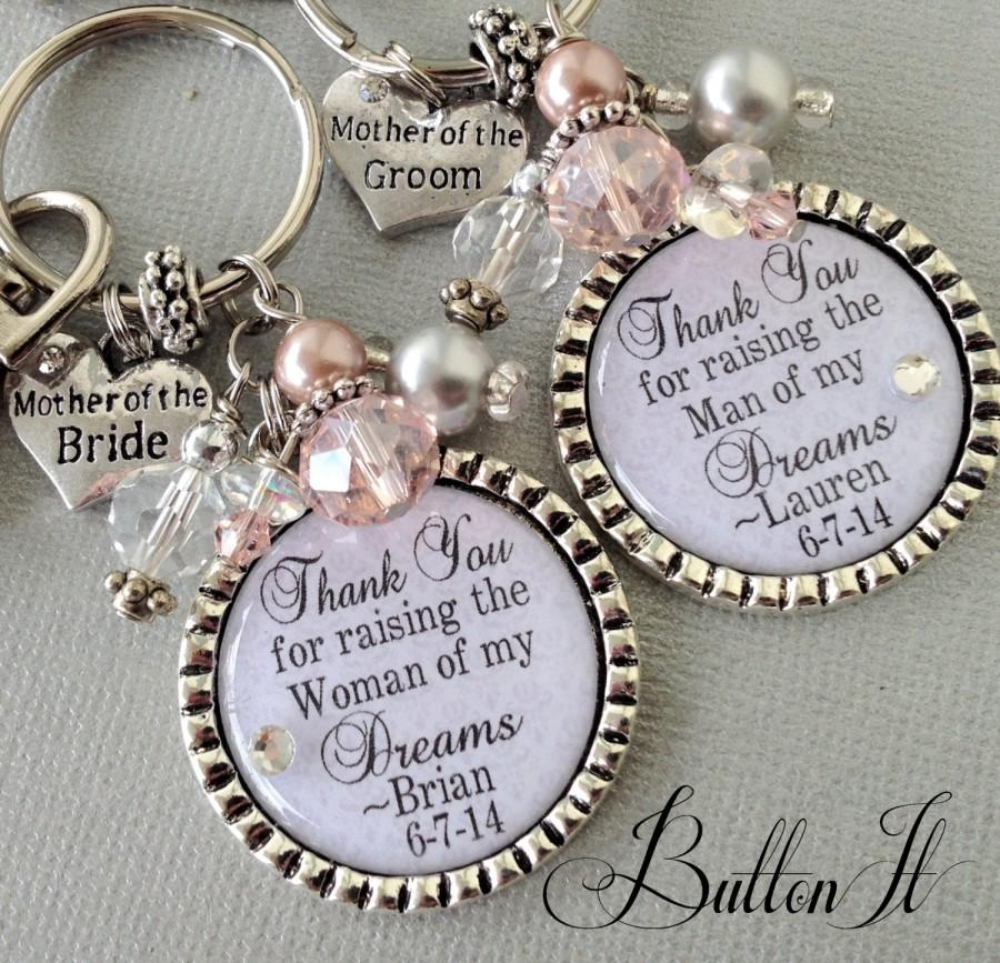 Mother Of The Bride Gift Personalized In Law Thank You For Raising Man My Dreams Woman Blush Quote