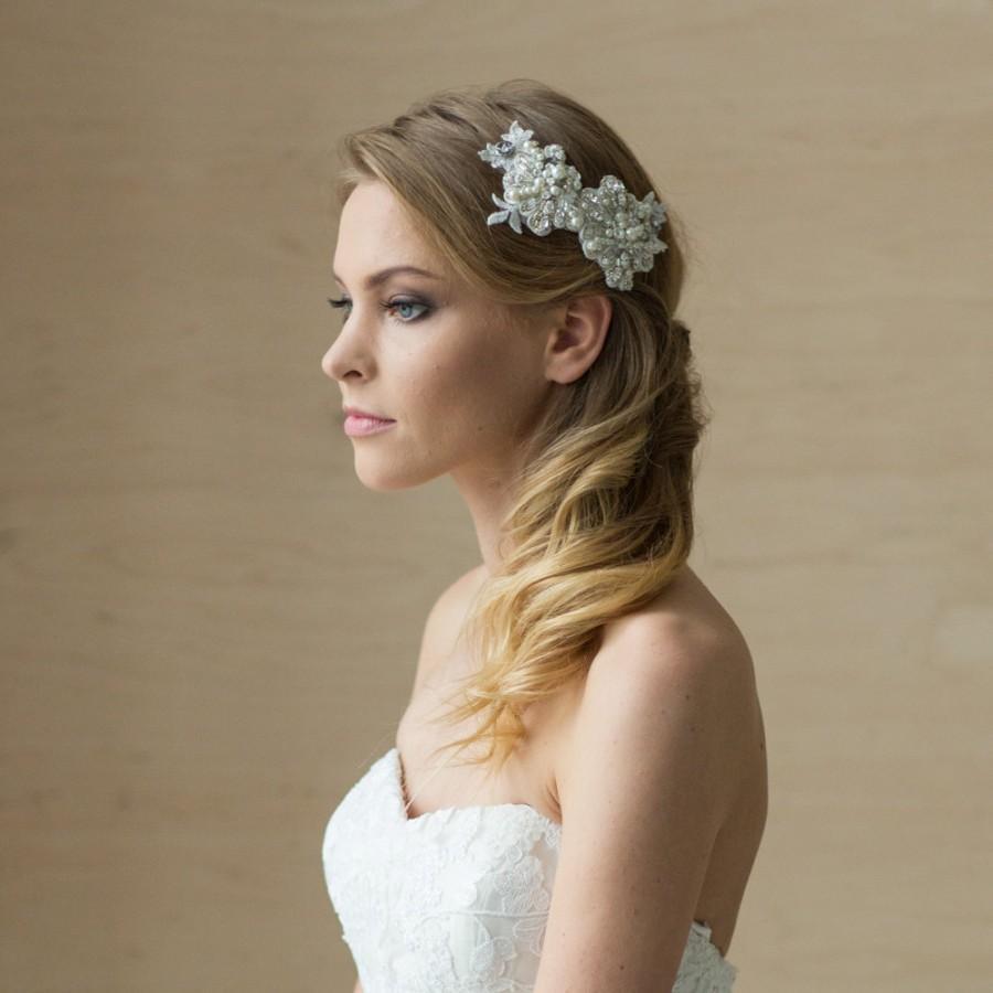 bridal hair piece, bridal hair accessories, wedding hair piece