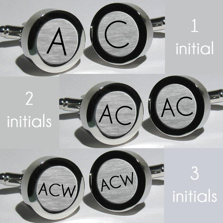 Mens Initial Cufflinks Groomsmen Wedding Gift Multiple Sets Monogram Personalized Free Usa Shipping Font Champagne Limo