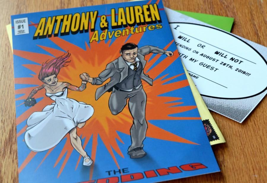 Comic Book Style Wedding Invitation Customized Unique Made To Order