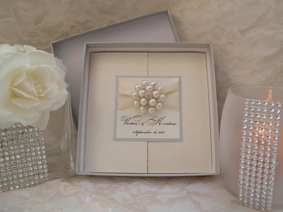 Brooch Boxed Invitations Large Couture Wedding Invites Box Invitation Suite By Wred Up In Details
