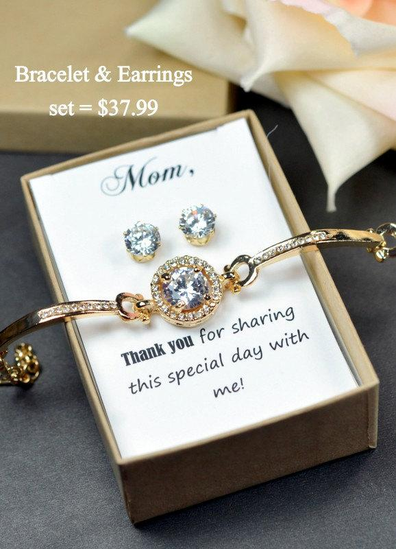 Mother Of The Bride Gift Personalized Bridesmaids Groom Gifts Bridal Party Jewelry Wedding Bracelet