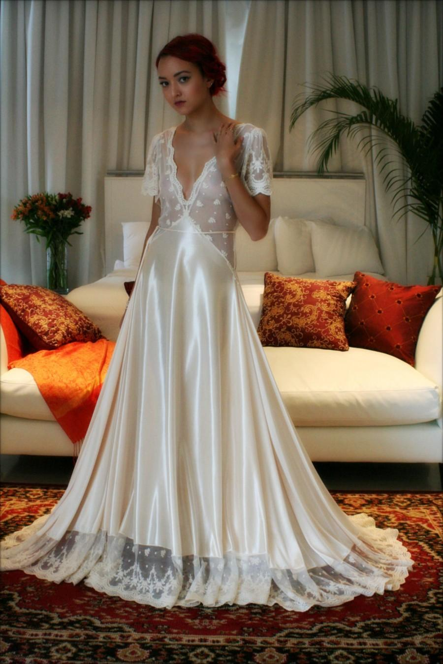Amazing Satin Night Gowns Adornment Wedding And Flowers Ispiration