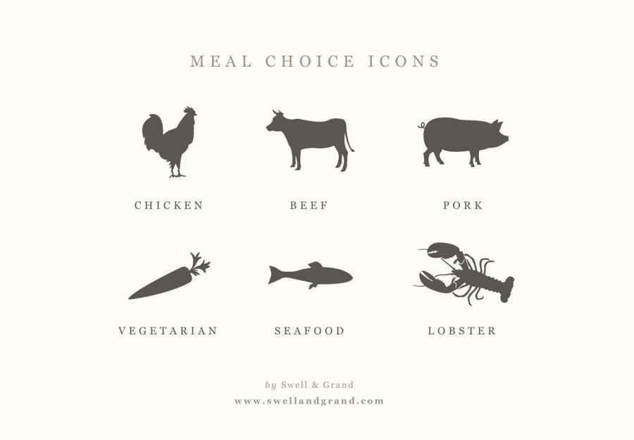 Digital Meal Choice Icons