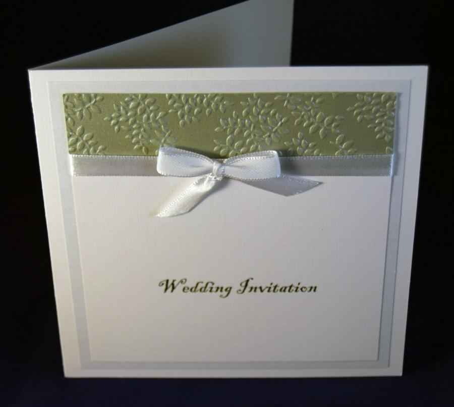 Wedding Invitation Bespoke Handcrafted Card Modern Design Embossed Made To Order Anemone Collection