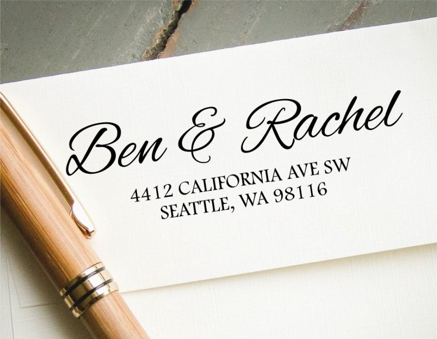 Self Inking Return Address Stamp Custom Rubber Personalized New Engagement Wedding Gift