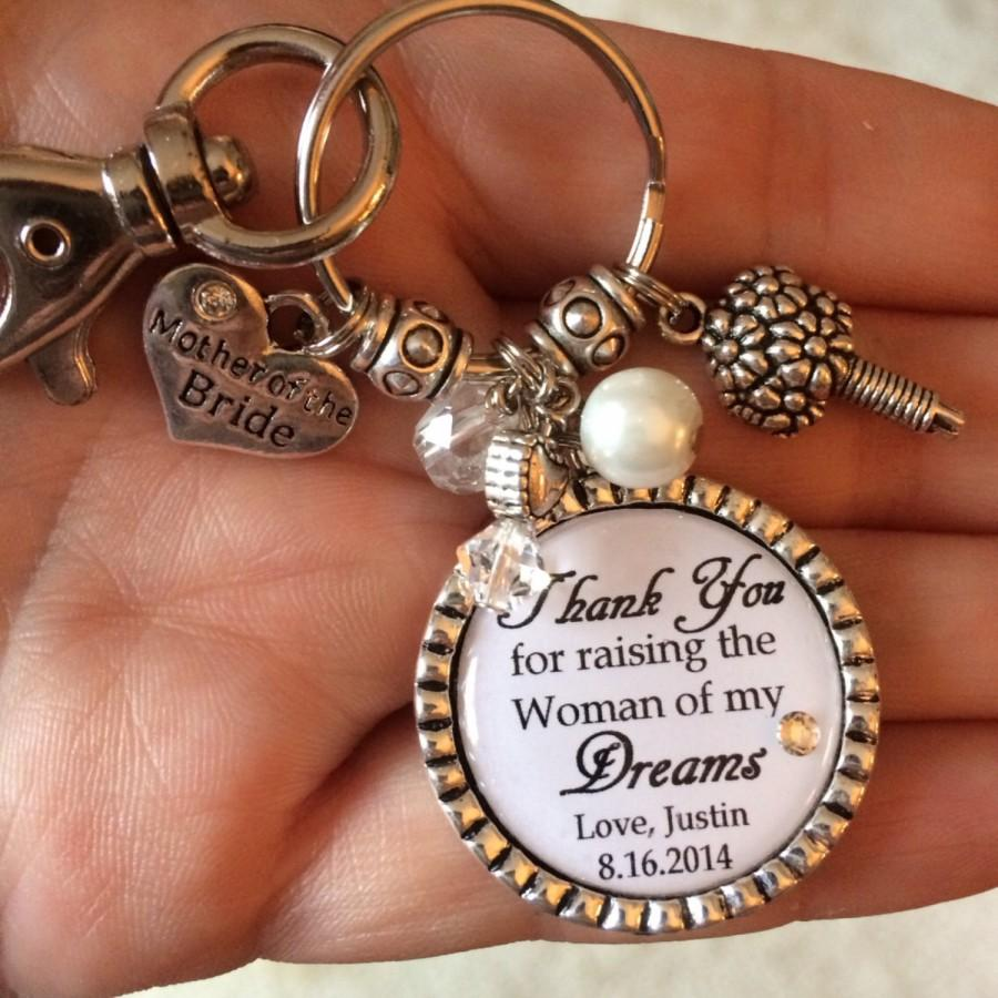 Mother Of The Bride Gift Keychain Purse Clip Personalized Thank You For Raising Woman My Dreams Key Chain