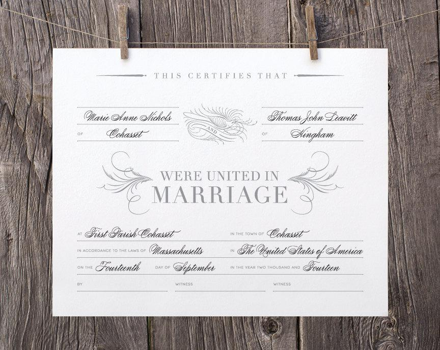 It is a graphic of Printable Marriage Certificate with victorian