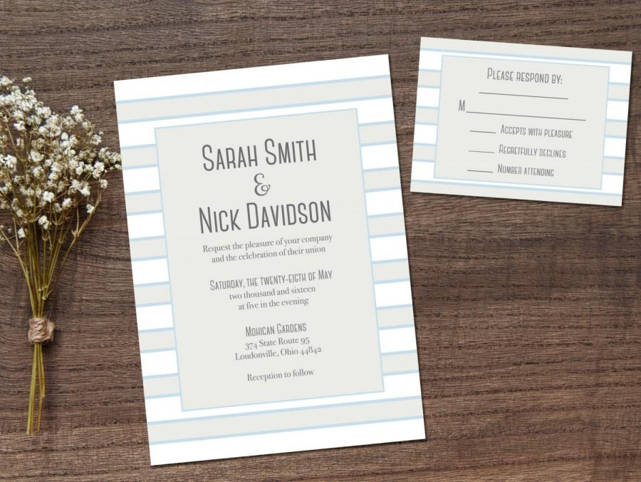 Wedding Invitations Printable Rsvp Card Invitation Set Printables Digital
