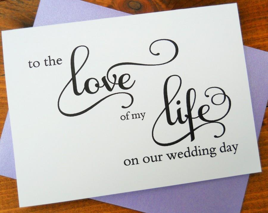 To The Love Of My Life Card Bride Groom Shimmer Envelope Wedding Note Stationery