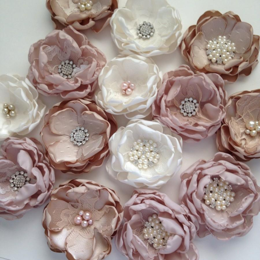 Fabric craft flowers crafting one bouquet flower unattached loose diy samples fabric izmirmasajfo