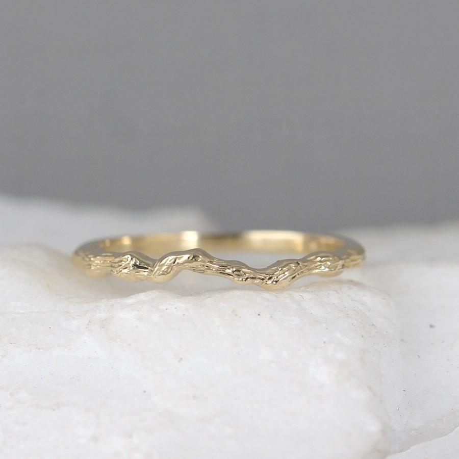 Twig Ring 14k Yellow Gold Wedding Band Stacking Rings Branch Nature Inspired Jewellery Promise Made In Canada