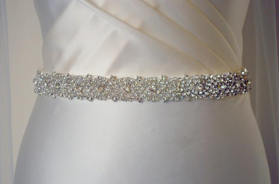 Embellished Belt All Around Bridal Wedding Dress Waistband Crystal Trim Sash Diamante Beaded
