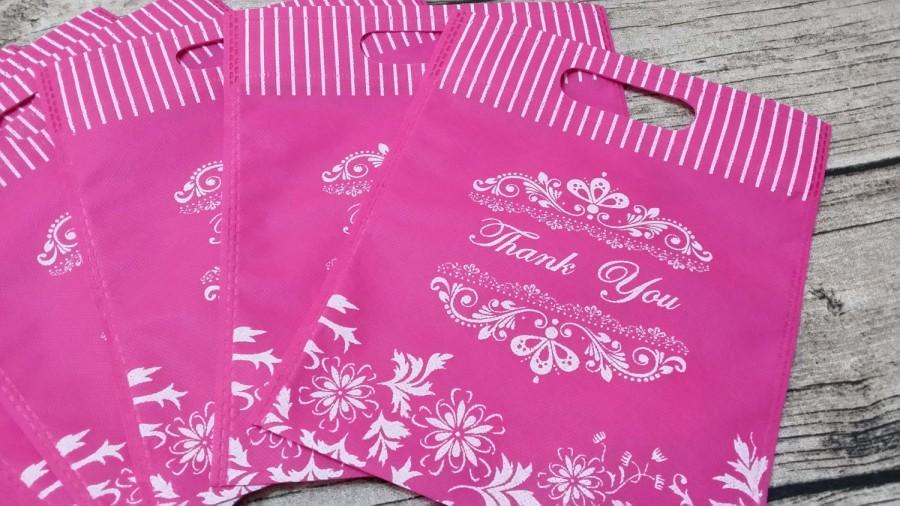 10 Thank You Non Woven Wedding Bags Favor Candy Gift Party