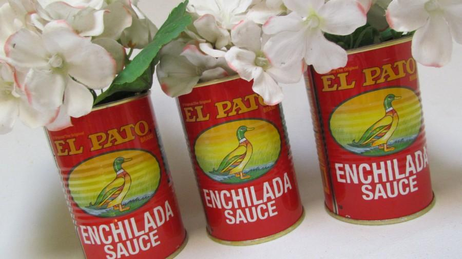 Fiesta Decorations El Pato Mexican Tin Cans Set Of 3 Medium Unique Idea For Bridal Shower Wedding Engagement Birthday Retirement Baby Bbq