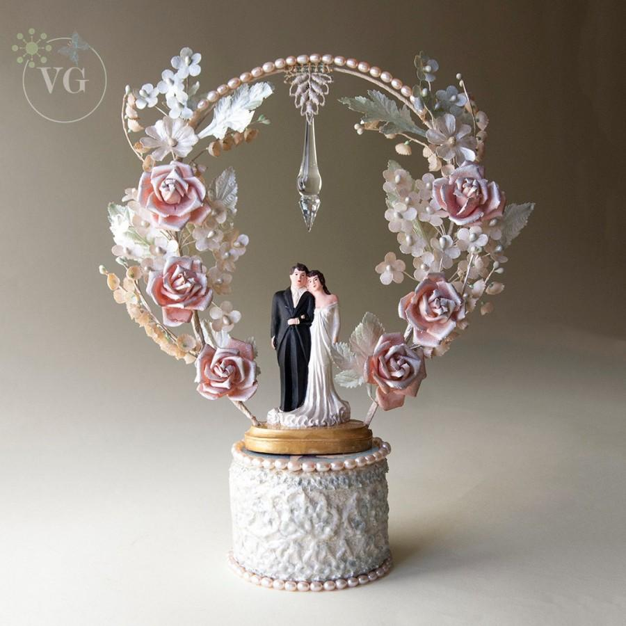 swarovski wedding cake topper vintage 1930 s wedding cake topper with cultured pearl 20680