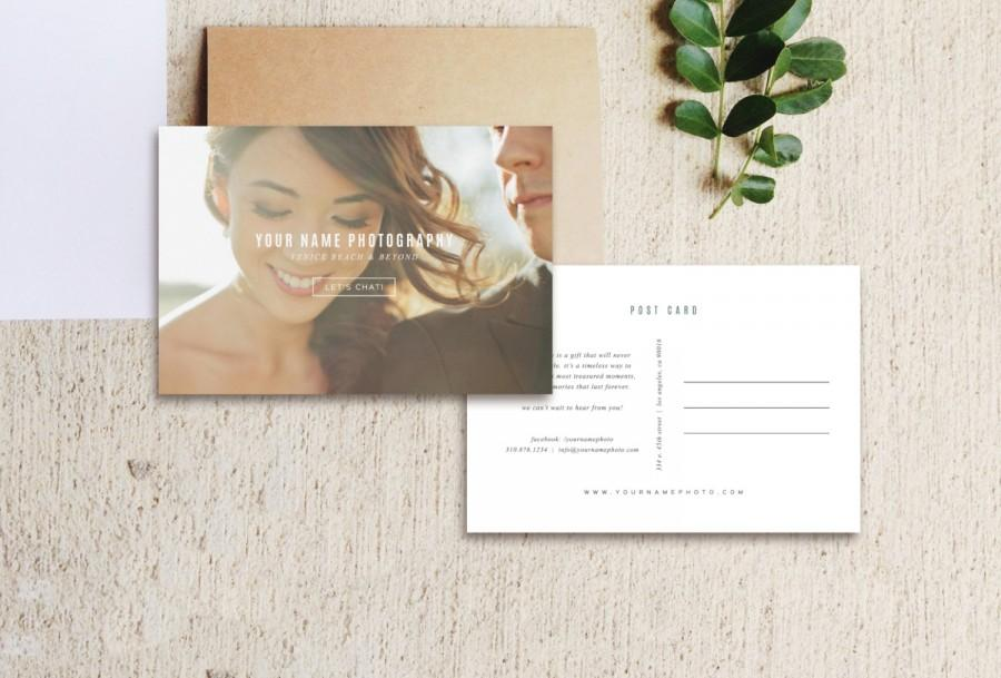Vintage Postcard Template Photo Marketing Digital Wedding Photography M0163
