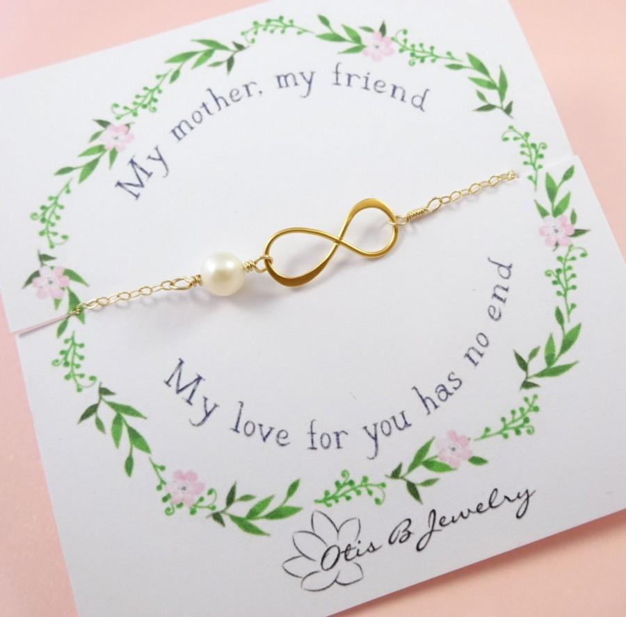 Mother Of The Bride Or Groom Gift Message Card With Infinity Necklace S Jewelry In Law