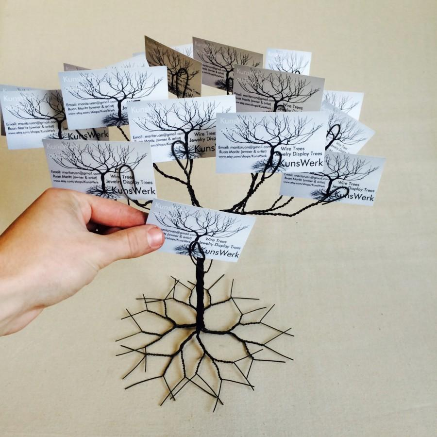 Wedding Wishing Tree Business Card Holder Display Stand