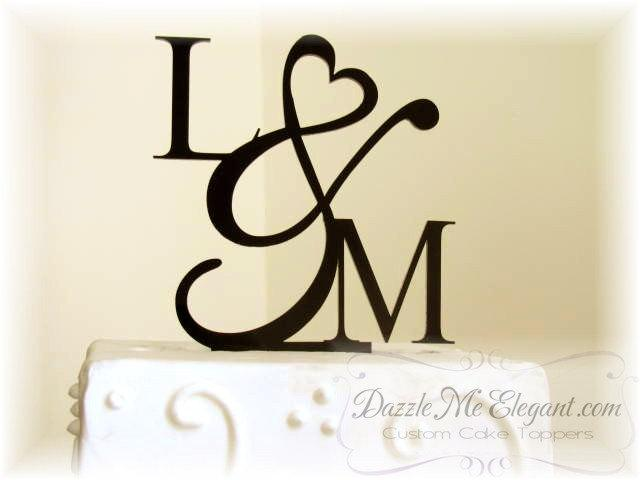 wedding cake toppers initials wedding cake topper initials cake topper 26509