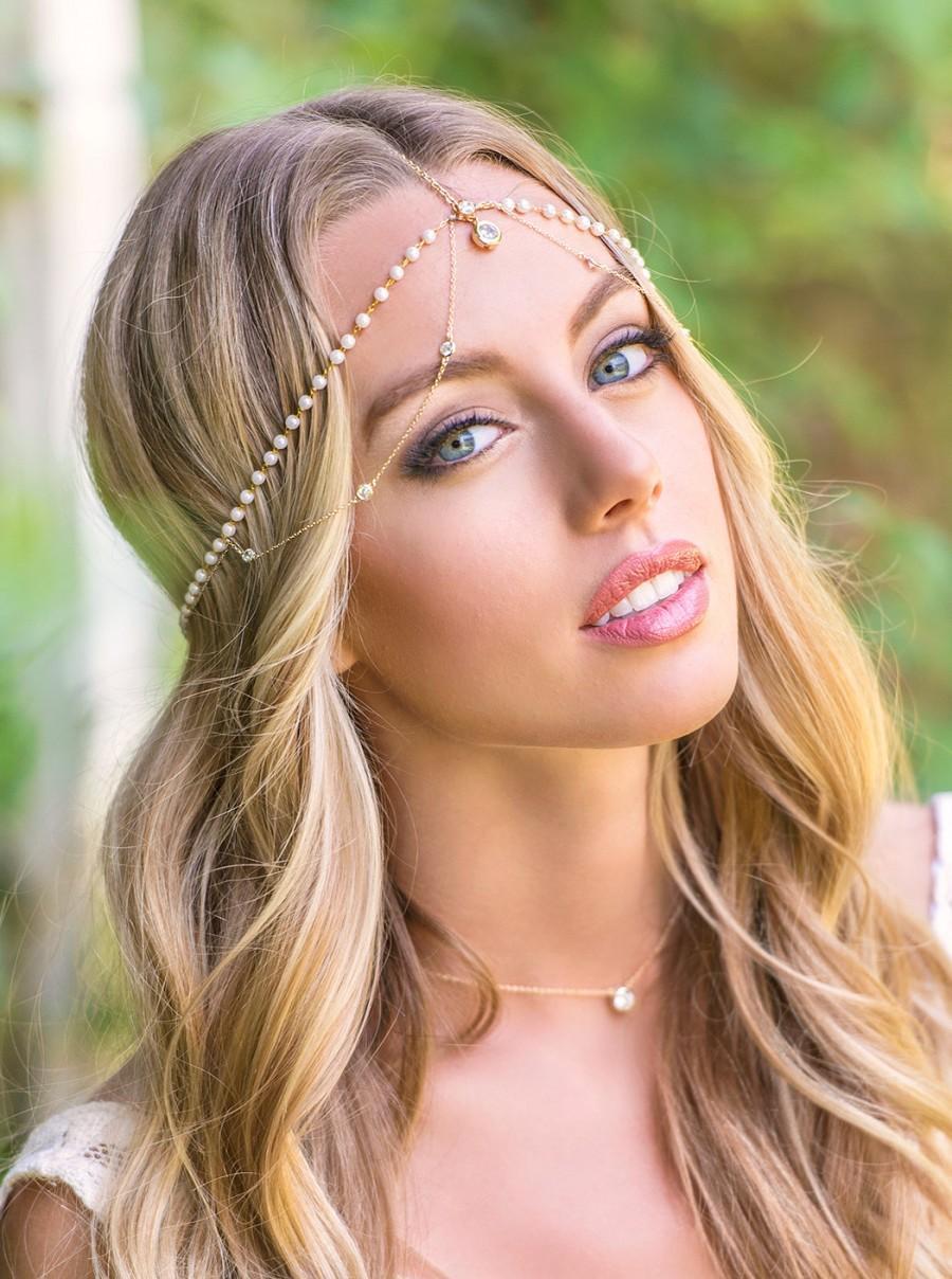 bohemian wedding hair accessories, bridal headpiece, bohemian