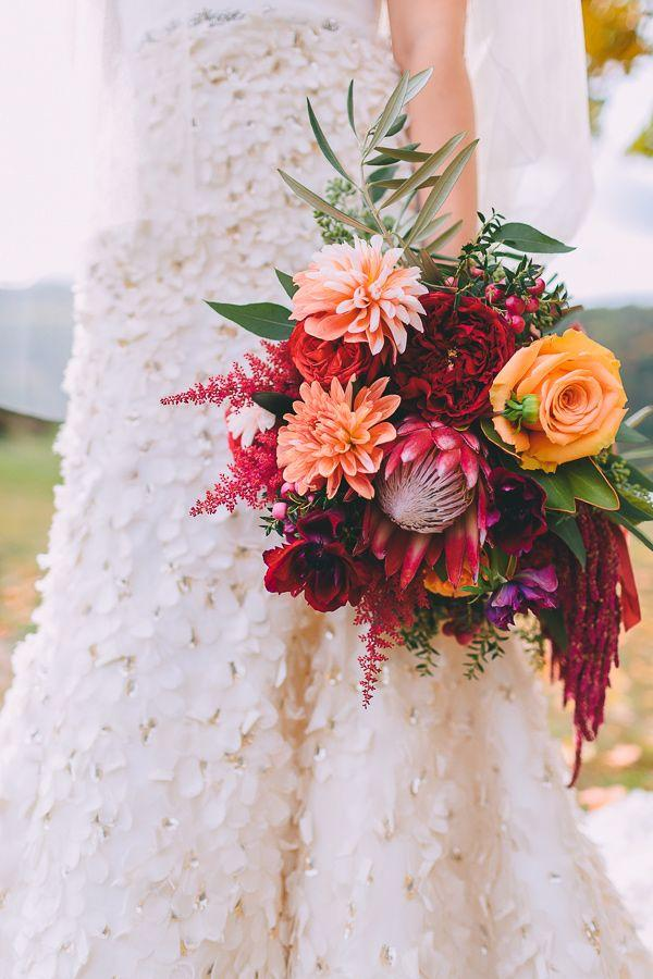 Bouquet Flower Seasonal Autumn Wedding In New England