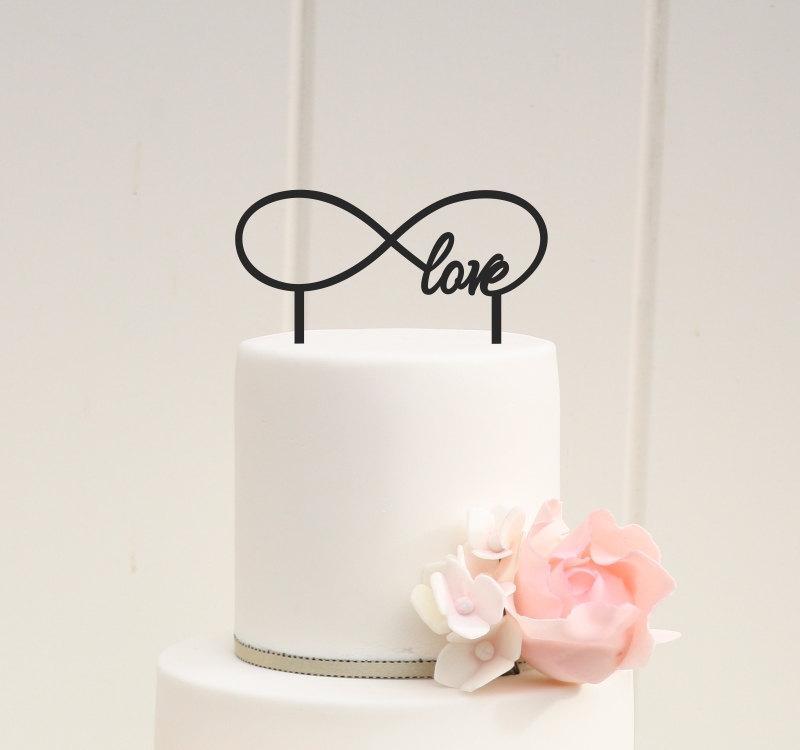 Infinity Symbol Love Wedding Cake Topper Custom