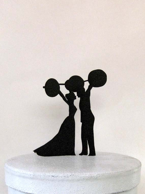 Weight Lifting Birthday Cake Topper