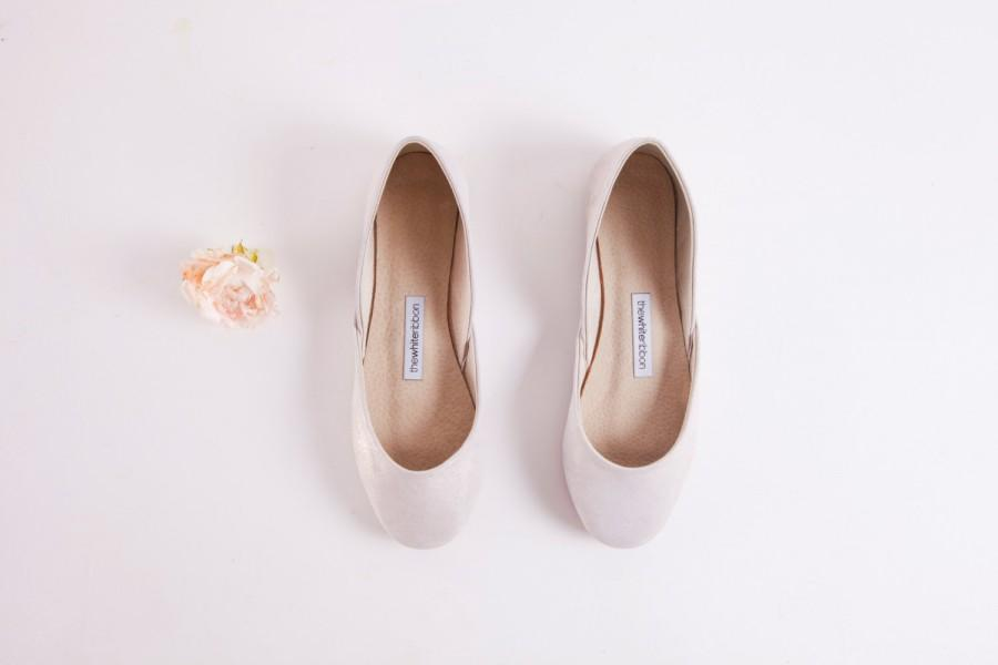 White Diamond Sparkly Ballet Flats