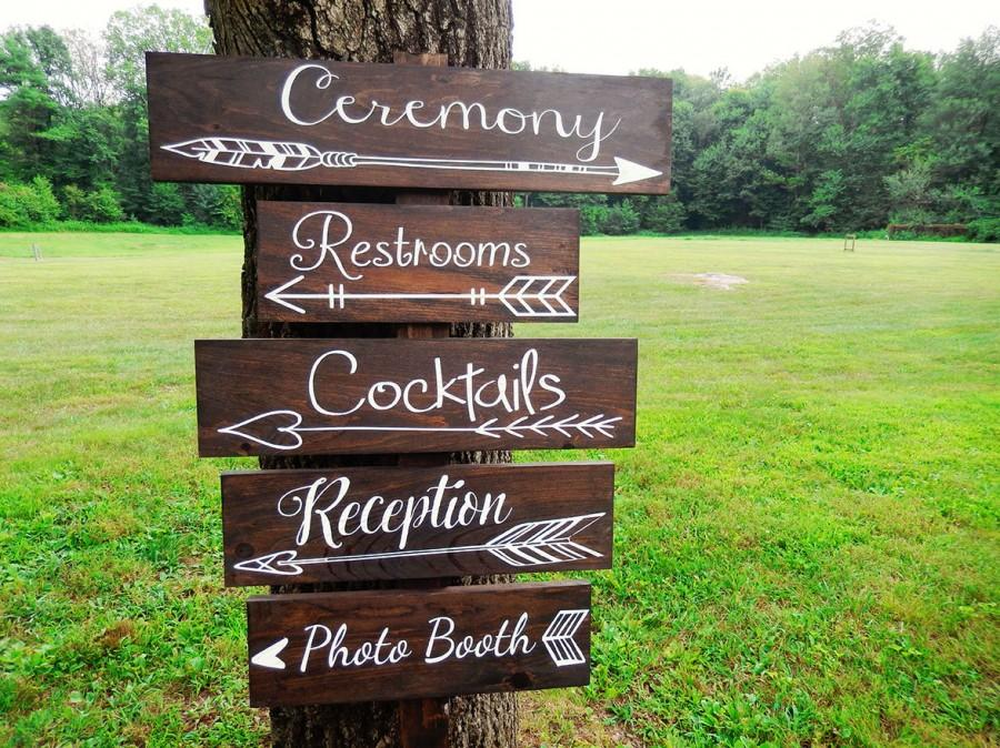 Very best One Wedding Directional Sign- Wedding Arrow Sign- Rustic Wedding  AZ79