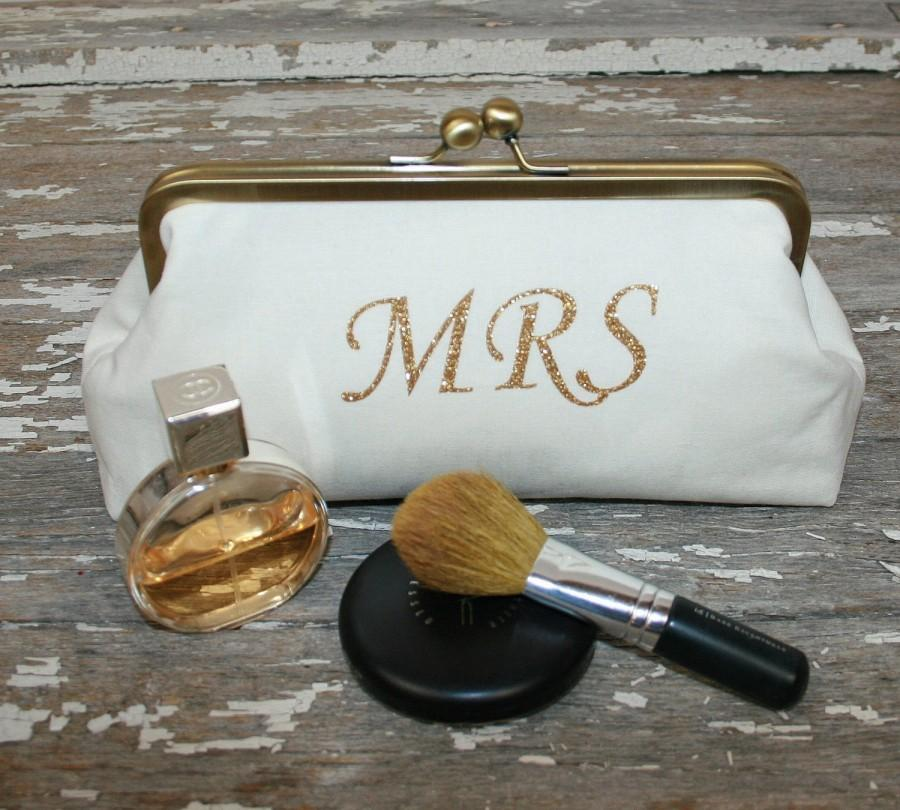 Gold Bride Clutch Bridal Purse To Be Gift Shower Future Mrs Engagement Wedding
