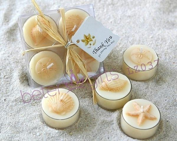 Lz037 Seaside Tea Light Candle Set Bridesmaids Gifts Ideas