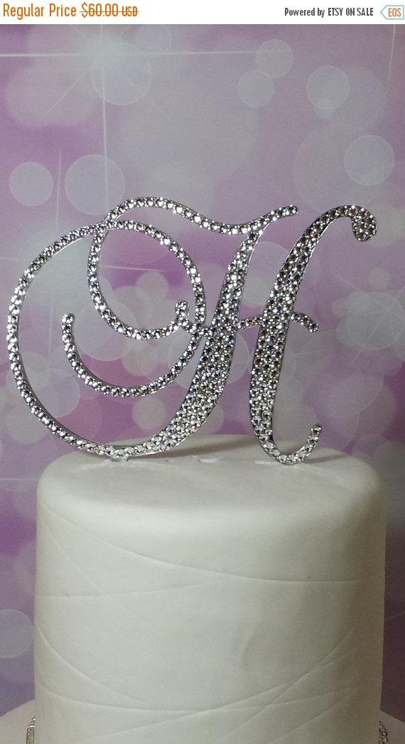 swarovski crystal monogram wedding cake toppers letter 5 inch monogram wedding cake topper 20676