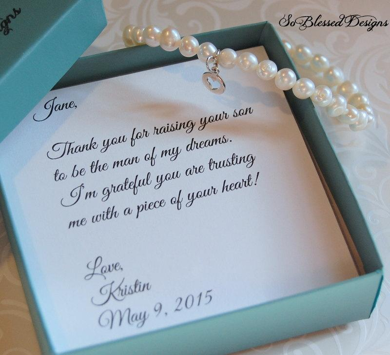 Mother Of The Groom Bracelet Bride In Law Gift Wedding Future
