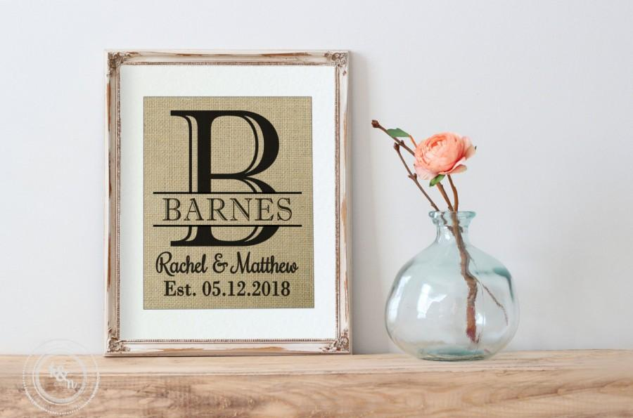 Bridal Shower Gift On Real Burlap