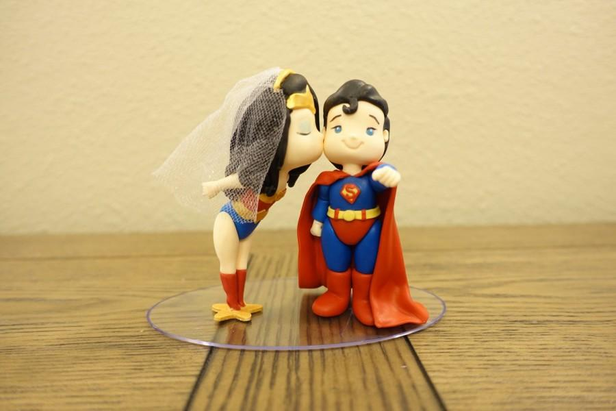 superman and wonder woman wedding cake topper and superman cake topper wedding cake topper 20614
