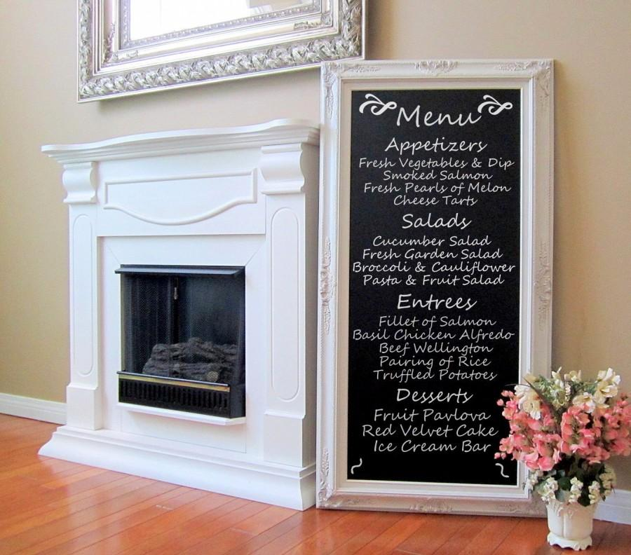 Dining Room Decor Wall Art French Furniture Chalkboard Long Blackboard 56 X32 Tall Narrow Baroque Framed Magnetic Large Chalk Board