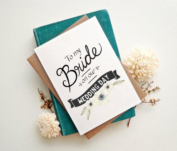 To My Bride Card Wedding Gift For Wc466