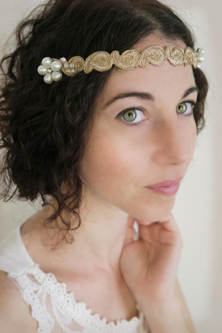 bridal lace headband, wedding lace tiara headband with hair combs