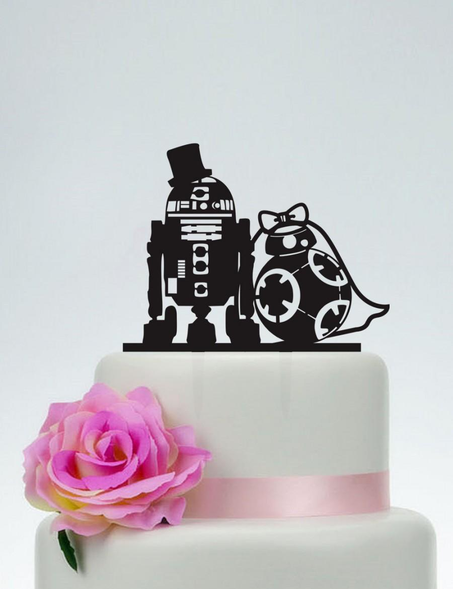 r2d2 and bb8 wedding cake topper wedding cake topper wars cake topper r2d2 amp bb8 cake 18949