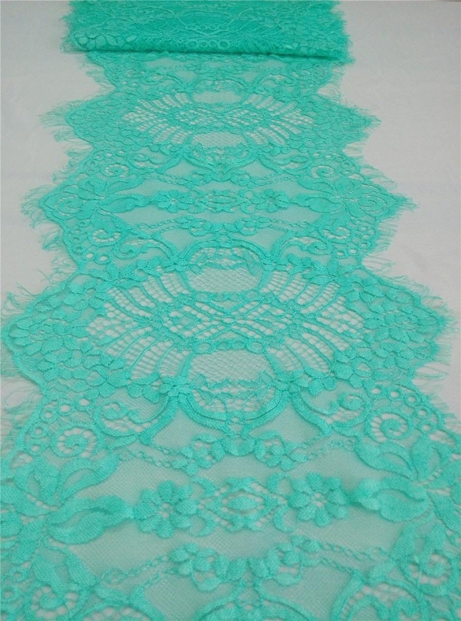 Mint Lace Table Runner 11 Green Runners Wedding R15040802