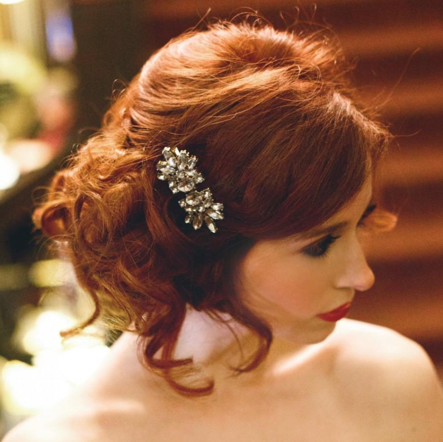 rhinestone hair clip, art deco hair clip, art deco, bridal hair clip